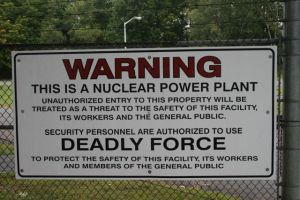 Entergy wants to shrink vermont yankee security zone vtdigger a security sign on the gate at the vermont yankee compound in vernon file photo by mike fahervtdigger aloadofball Image collections