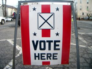 election vote sign