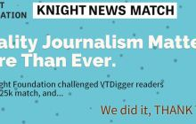 Knight Foundation to Match $25,000 to VTDigger