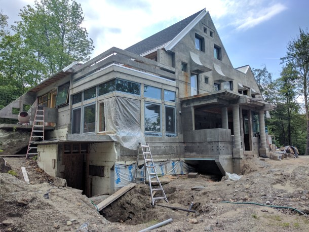 Architect Designs in warren, renowned vermont architect designs concrete house