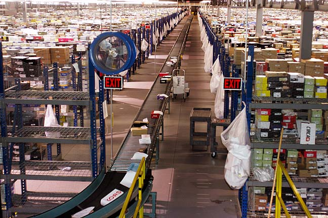 An Amazon fullfillment center in Shepherdsville Kentucky