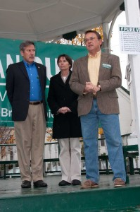 Brian Dubie and Thom Lauzon on the campaign trail during the 2010 gubernatorial election. VTD File Photo/Josh Larkin