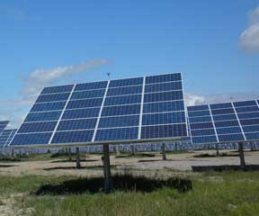 South Burlington's new twenty-five acre solar farm promises to generate a reported 2.2 megawatts of electricity for the state, enough to power roughly 450 homes. VTDigger file photo