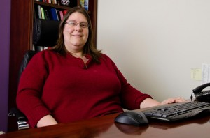 Sarah Launderville, executive director of the Vermont Center for Independent Living. VTD/Josh Larkin