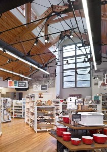 An interior image of the King Arthur Flour addition designed by TruexCollins. Photo courtesy of King Arthur