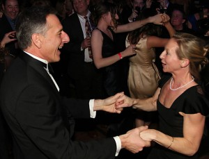 Gov. Peter Shumlin, with his wife, Deb, at his first inauguration. Photo by Terry Allen