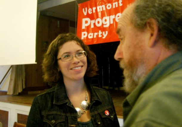 Emma Mulvaney-Stanak was elected to be chair of the Vermont Progressive Party during an annual convention at the Capital City Grange in Montpelier on Saturday. Photo by John Herrick