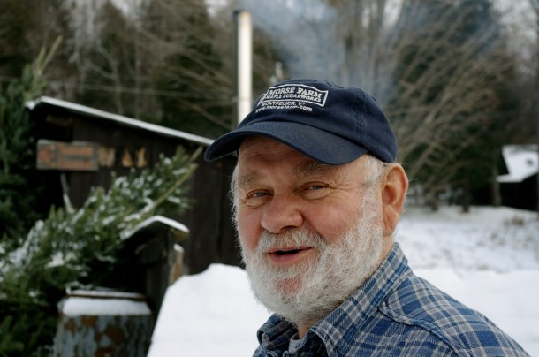 Burr Morse, a seventh-generation maple syrup farmer for Morse Farm Maple Sugarworks in East Montpelier, toured his farm Tuesday after discussing the new maple syrup labeling standards. Photo by John Herrick/VTDigger