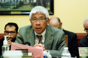Vermont Department of Health Commissioner Harry Chen testified last week before the Senate Committee on Economic Development. Photo by John Herrick/VTDigger