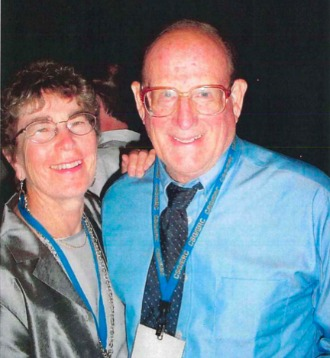 Sen. William Doyle and his wife Olene after the senator was honored 13 years ago by the Eastern Region of the Council of State Governments for his efforts at persuading four Canadian premiers to join the council.  Furnished photo