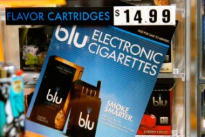 E-cigarettes are battery-power tubes that vaporize a flavored nicotine fluid into smoke and are sold with tobacco products. These products come in a wide range of flavors, including cherry and menthol. Photo by John Herrick/VTDigger