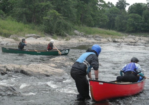 NFCT interns begin a training exercise on the Missisquoi River near East Highgate. Furnished photo.