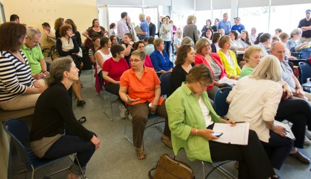 More than 100 people attended a hearing last week in Winooski on problems with the state Department for Families and Children held in the wake of the deaths of three children whose families had ties with the department. Photo by Roger Crowley/for VTDigger