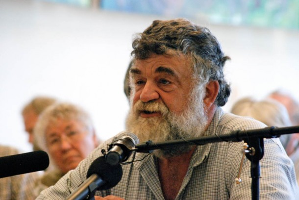 Richard Longway of Swanton co-owns a dairy farm. He testified during a public hearing in St. Albans on a petition that would put in place new regulations on farm practices.  Photo by John Herrick/VTDigger
