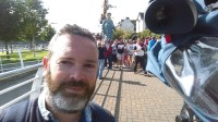 Simon Filming 'Granny' and the Royal de Luxe for the short doc 'One Giant Leap'