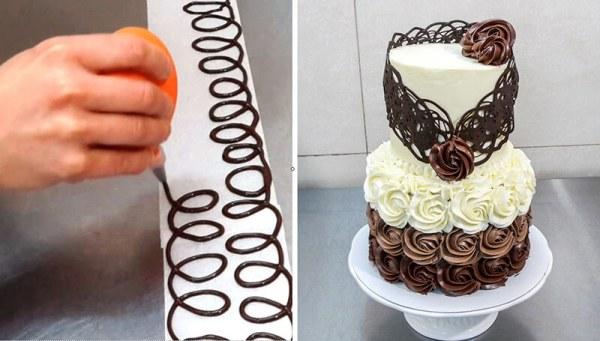 Как украсить торт шоколадом: фото, идеи и мастер класс
