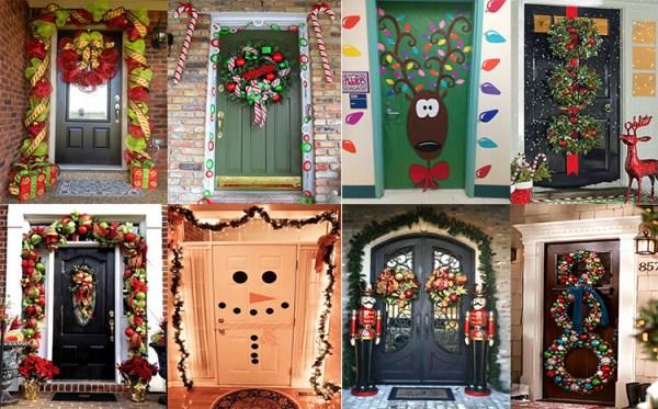 Как украсить дверь к Новому году?