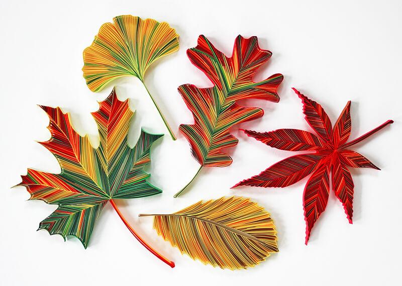 открытка с осенними листьями из бумаги своими руками жить так здорово