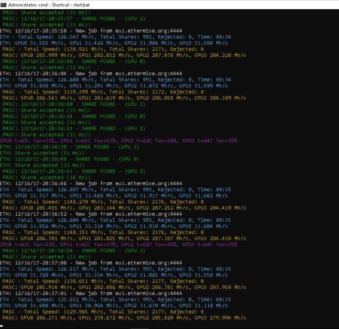 Crypto] RX580 nitro+ modded bios mining +31MH/s - Ethereum