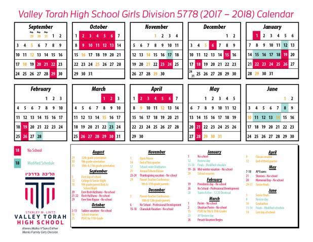 Calendar - Girls 17-18
