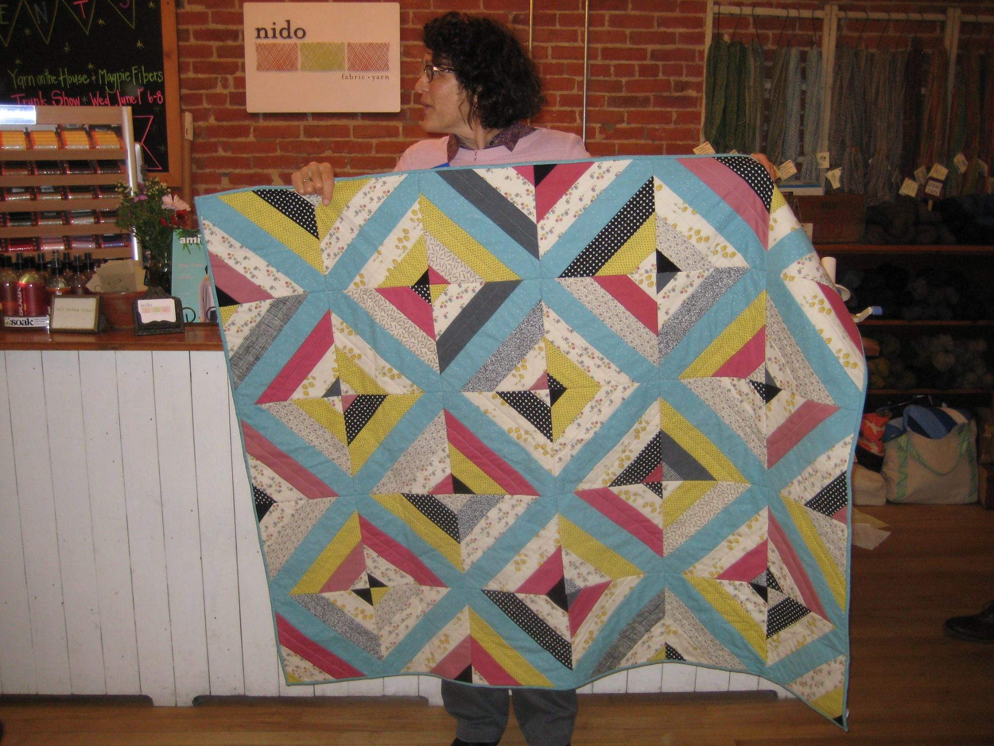 Anne's Foundation Pieced String Quilt