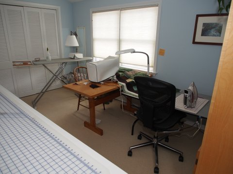 quilting set-up