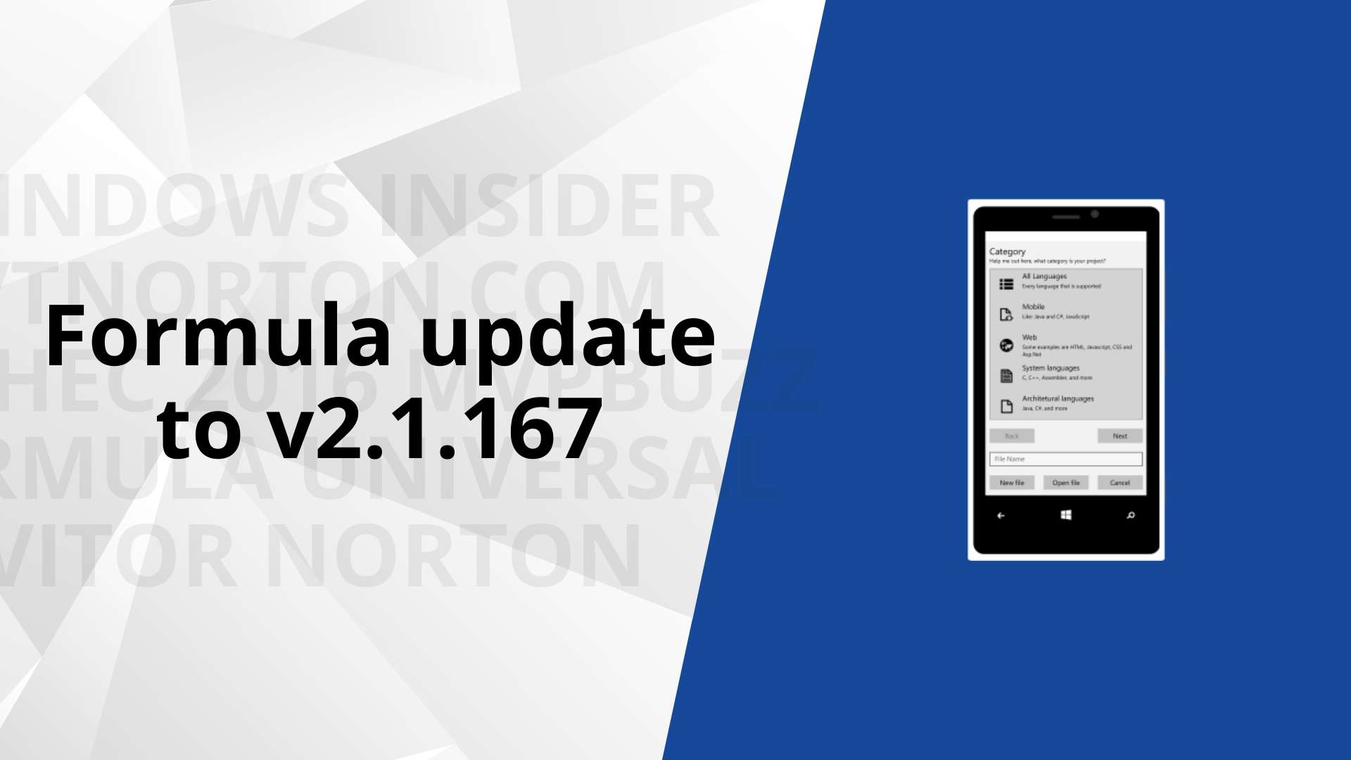 Released Formula v2.1.167 – see what's new
