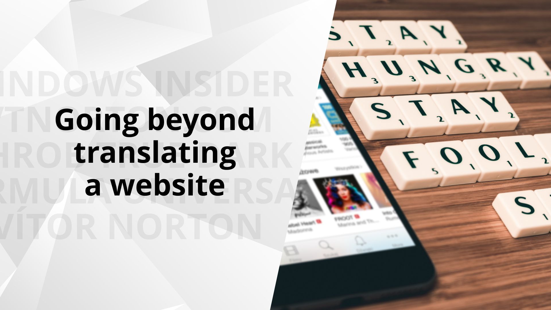 Going beyond translating a website