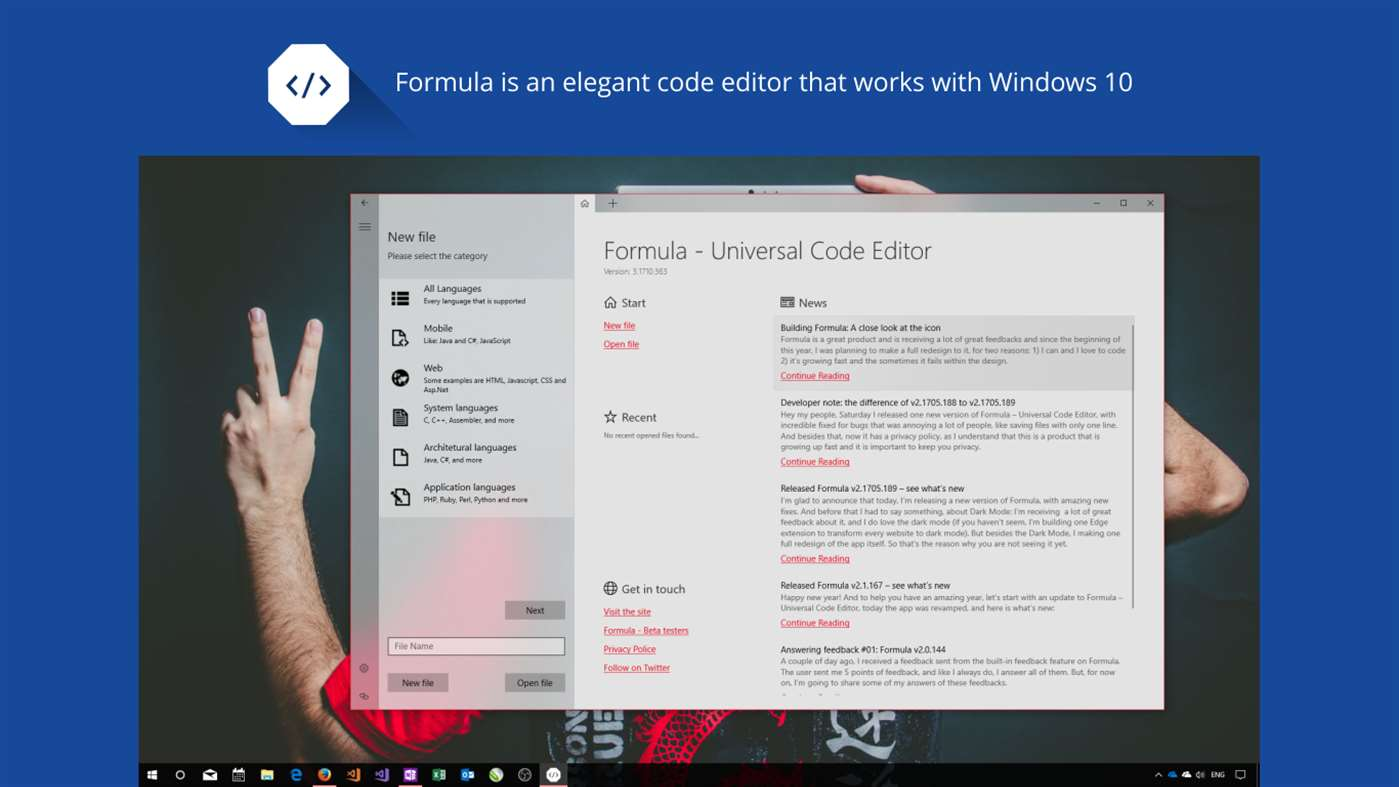 Preview image for Formula - Universal Code Editor