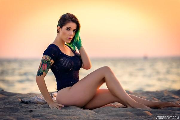 Gamer Girl at one of Toronto's beaches