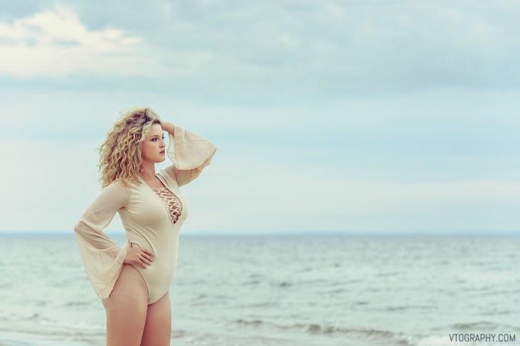 Scarlett in beige bodysuit