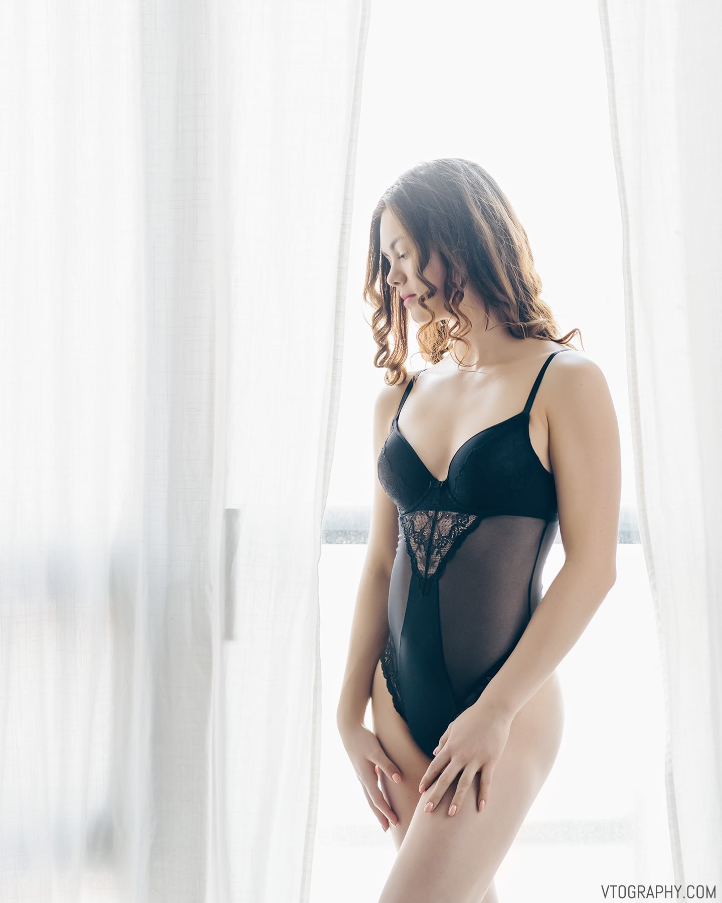 Window light portraits with model Chelsea