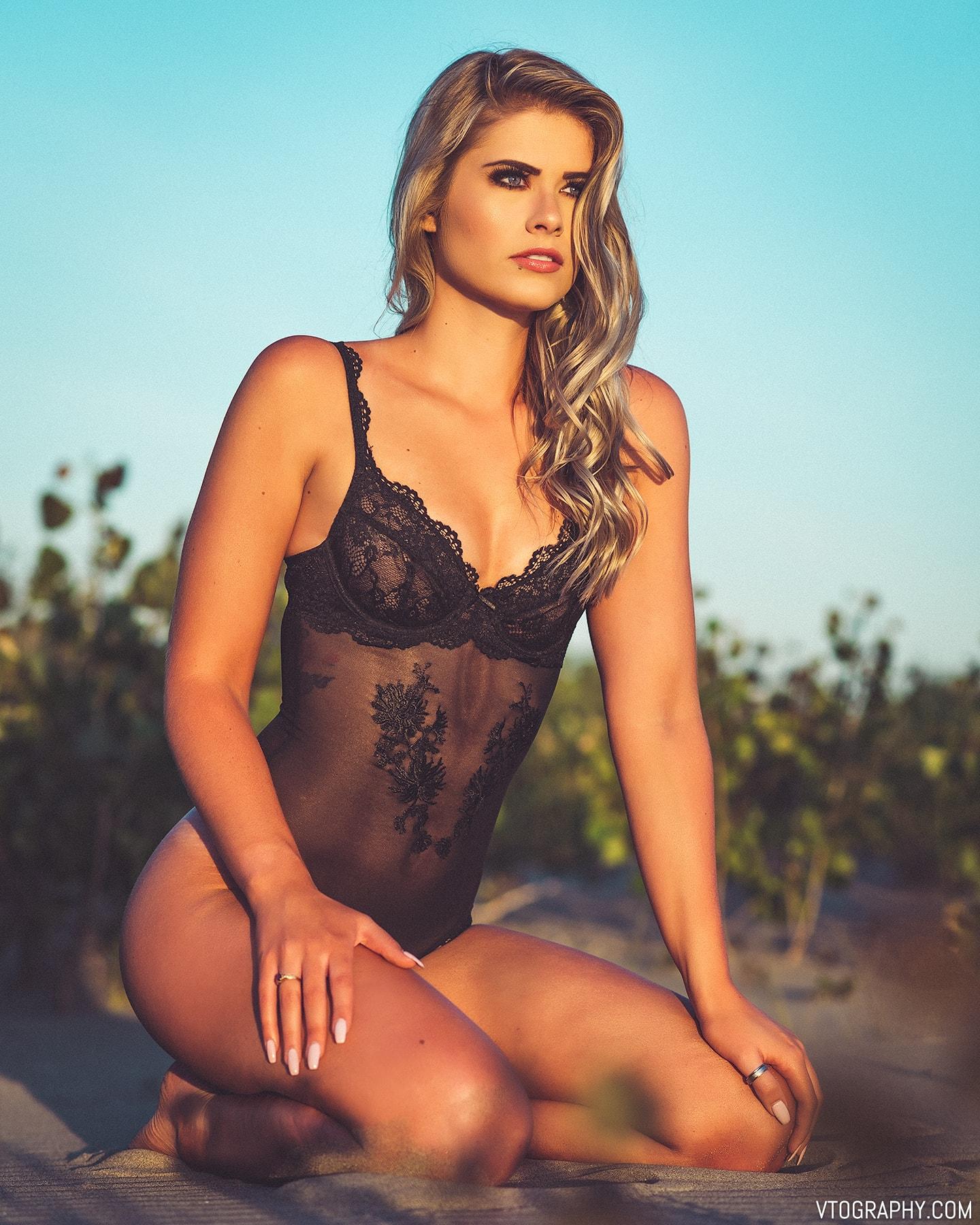 La Vie En Rose black lace mesh thong bodysuit