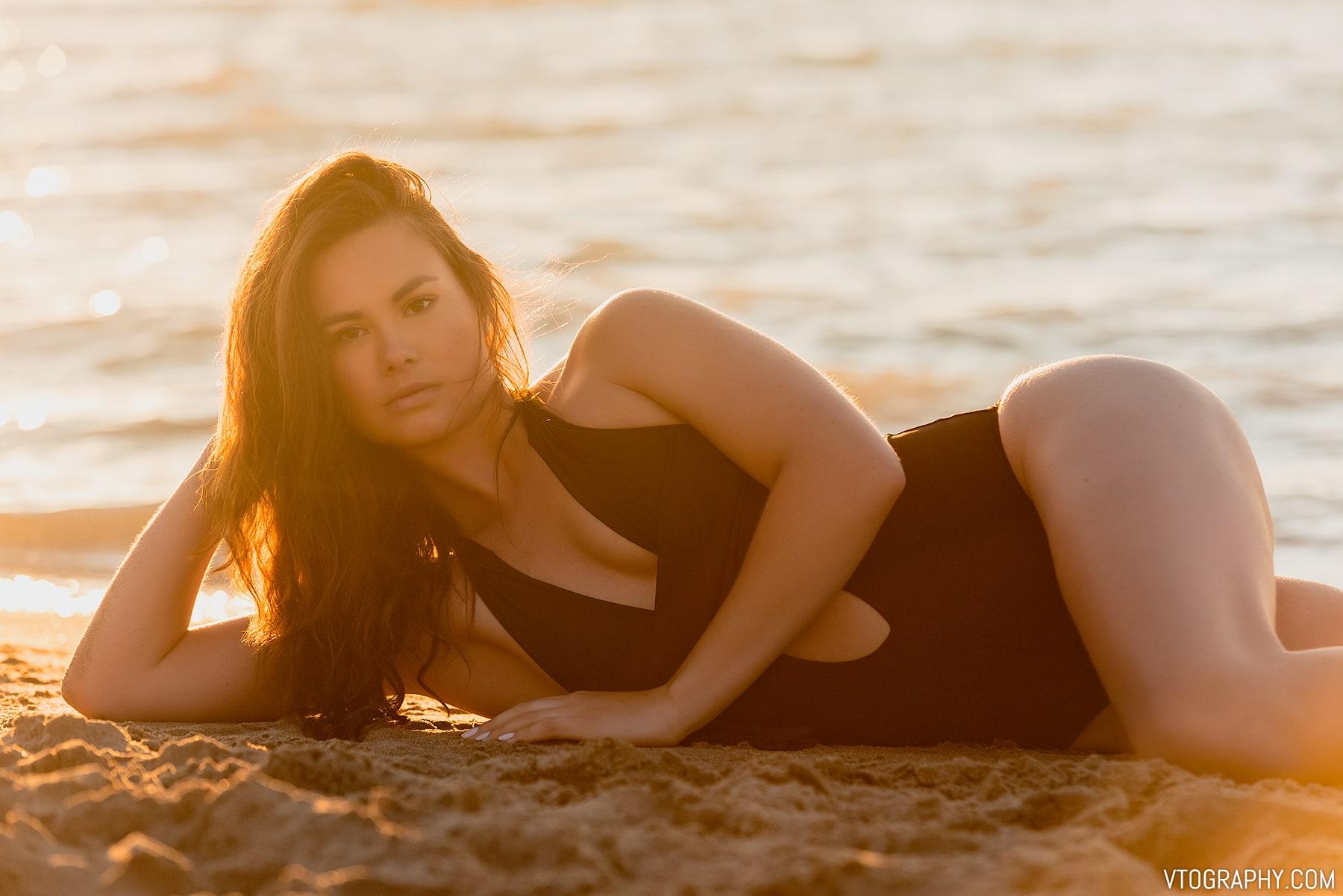 Beach photo shoot with Chelsea