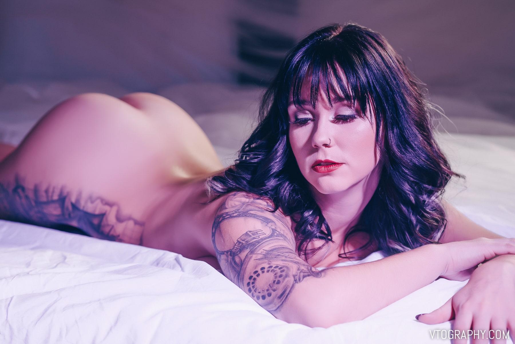 Emily in lingerie