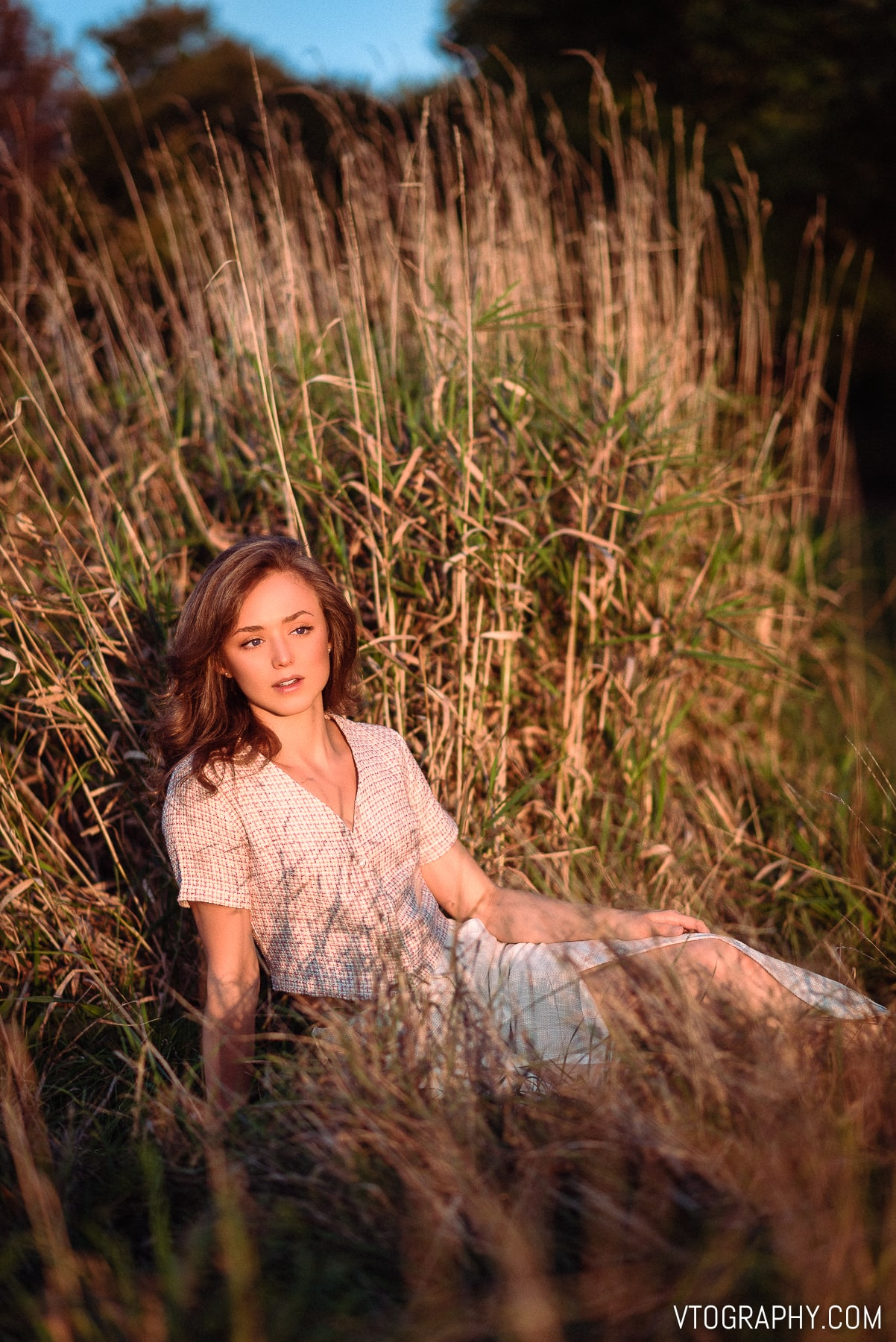 Tamron 85mm golden hour portraits with Kathryn