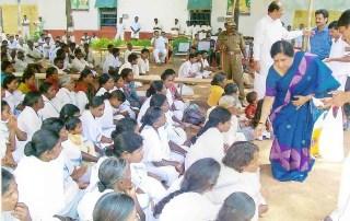 Vikasa Tarangini Distributing Sweets Warangal Jail