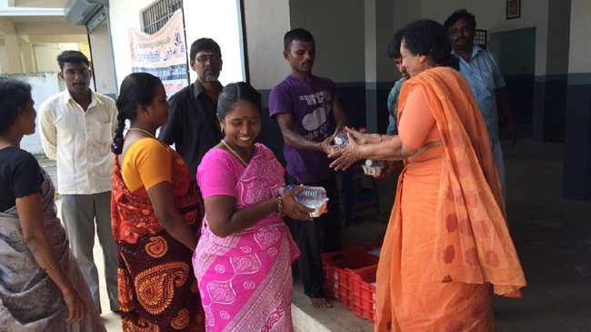 Vikasa Tarangini VT Seva Flood Relief Activities in Chennai