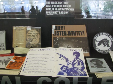 Black Panthers Exhibit case