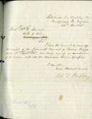 RTP note of receipt of pardon, 1865