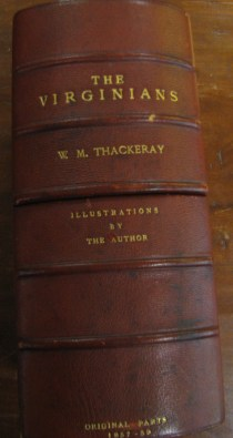 Custom case for Thackeray's The Virginians.
