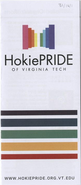 Brochure for HokiePRIDE