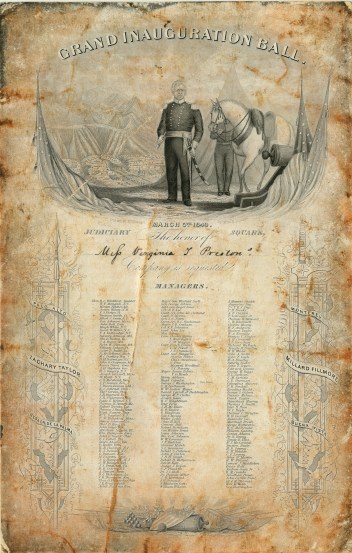 Pres. Zachary Taylor 1849 inauguration invitation