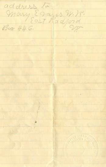Letter from Radford lodge, Page 2. July 28, 1921.