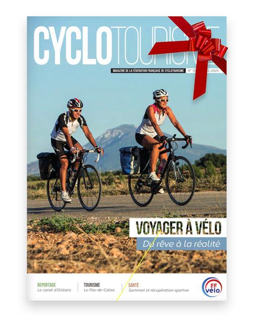 Couverture de la revue Cyclotourisme du mois d'avril 2020.