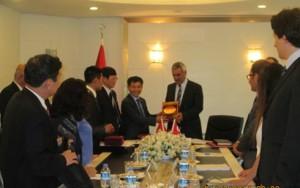 Ông Đỗ Mạnh Hùng với Thứ trưởng Bộ lao động và an sinh xã hội Erhan BATUR