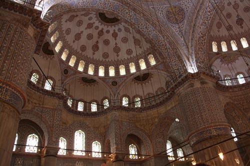 thánh đường sultan ahmet phía bên trong