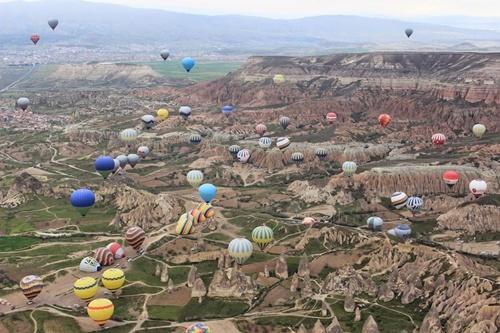 tour khinh khí cầu ở cappadocia