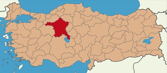vị trí của thủ đô ankara