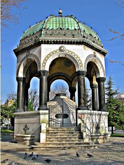 bể nước wilhelm ở quảng trường sultan ahmet
